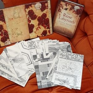 The Rose Labyrinth book and parchment set